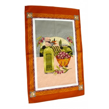 Provence Kitchen Towel - Terracota - Made in France