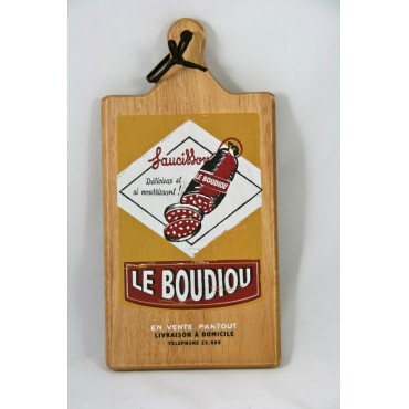 "Wood cutting board, French vintage design ""Le Boudiou"""