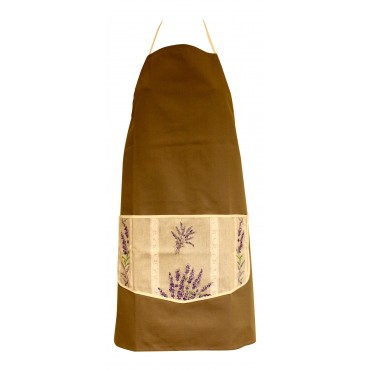 Provence Apron - Camel - 100% Cotton - Made In France