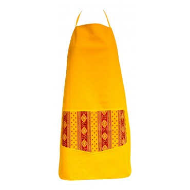 Provence Apron - Lemon - 100% Cotton - Made In France