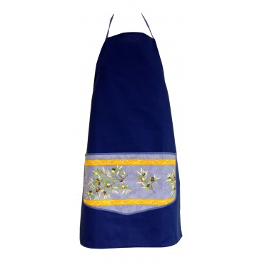 Provence Apron - Blue - 100% Cotton - Made In France