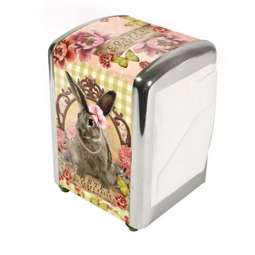 "French Napkins dispenser ""Contes du Temps Passé"" + 1 refill of 100 Napkins"