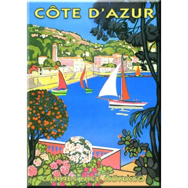 "French Metal Sign ""Cote d'Azur"" - 5.9""x8.3"" - made in France"