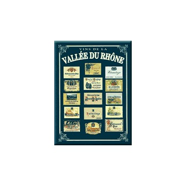 "French Metal Sign ""Vins Vallee du Rhone""  12""x16"""