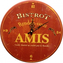 Wall Clock Bistrot Des Amis
