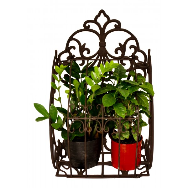 Cast Iron Wall Planter French Vintage Design Fleur De Lys My French Neighbor